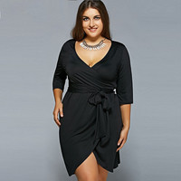 Plus Size Big Size Casual Bandage Dress