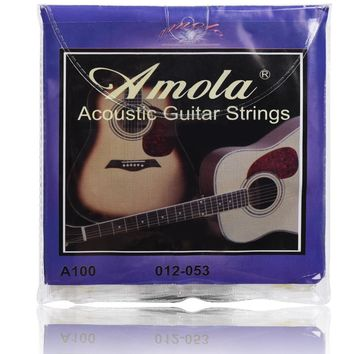 6 strings Amola 010 012 011 Acoustic Guitar Strings Wound Guitar Strings a110 a120 a100
