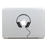 Laptop Sticker 11 13 15 Headphone DIY Personality Vinyl Decal Sticker for Apple Macbook Pro Air Laptop Case Cover Skin