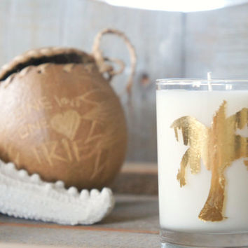Soy Candle: Gold Palm Tree