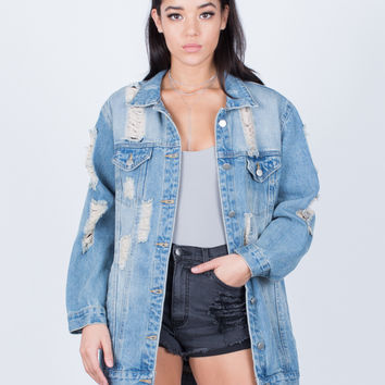 Light Washed Oversized Denim Jacket