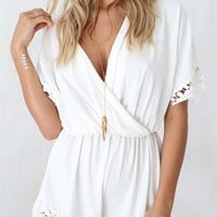 Cream Lily Playsuit | SABO SKIRT