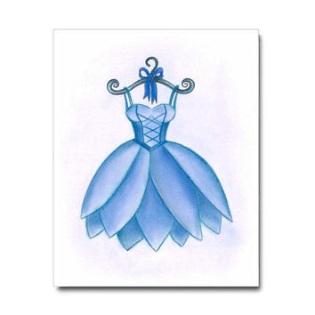 Girls room Decor, Ballet Dancing, Girls Wall Art, Ballet Dress Print, Girl Nursery Decor, Kids Wall Art, Blue, Ballerina Dance, Nursery Art