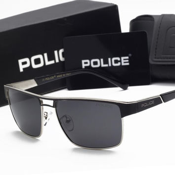 POLICE Colour film sunglasses Polarized sunglasses Outdoor sports driving cluse goggles best gifts H-YJ-LHSTCYJC