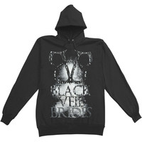 Black Veil Brides Men's  Collage Hooded Sweatshirt Black