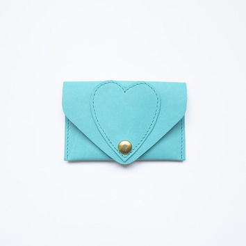Heart Leather Card Case by LaLisette on Etsy