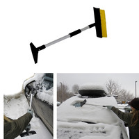 "Evelots 3-in-1 42"" Snow Brush Extends and Shortens Seasonal Car Brush & Scraper"