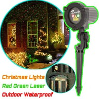 Top IP44 Waterproof Christmas Lights Red Green Static Twinkle Outdoor Christmas Laser Lights Projector Decorations For Home