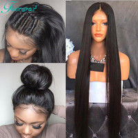 8A Straight Full Lace Human Hair Wigs For Black Women Brazilian Virgin Hair Full Lace Wigs Glueless Lace Front Human Hair Wigs