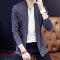 Mens Cardigan Sweater Jumpers 2016 Fashion Sueter Hombre Cardigan Sweaters Men Coats Casual Slim Long Sleeve Sweater Pull Homme