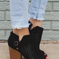 Mesh Ankle Boot in Black