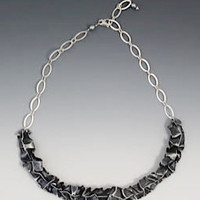 Lynn Costello- Sterling Silver Statement Bib Necklace