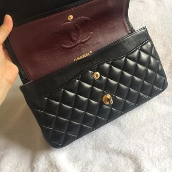 Authentic Classic CHANEL Handbags Crossbody Bags For Women Black Chain Bags