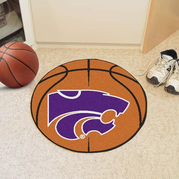"Kansas State Basketball Mat 27"" diameter"
