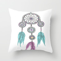Dreamcatcher Throw Pillow by Amber Rose