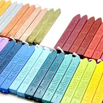 10 Random Color Wicked Sealing Wax Stick for Wax Seal Stamp
