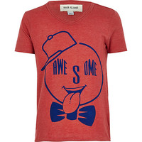 River Island Boys red awesome print t-shirt