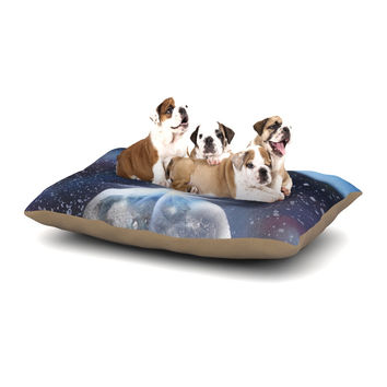 "Infinite Spray Art ""Intergalactic"" Blue Painting Dog Bed"