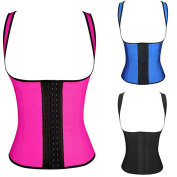 Latex Bustier Sexy Underbust Waist Cincher Rubber corsets Body Shape Wear 3 Hook 711