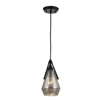 46172/1 Duncan 1 Light Pendant In Oil Rubbed Bronze And Antique Mercury Glass - Free Shipping!