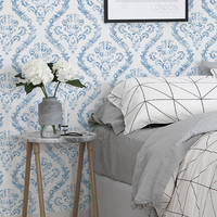 Peel and stick Self adhesive vinyl wallpaper, wall decal - Damask pattern- 100