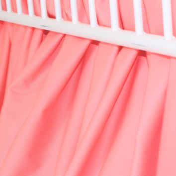 Salmon Gathered Crib Skirt