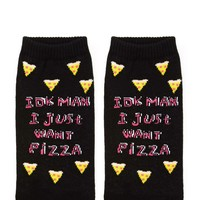 I Just Want Pizza Ankle Socks