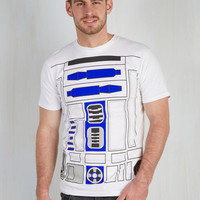 Nifty Nerd Mid-length Short Sleeves You R2 Cute Men's Tee