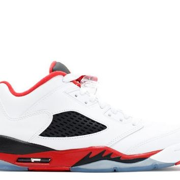 "[FREE SHIPPING] Air Jordan 5 Retro Low ""Fire Red"""