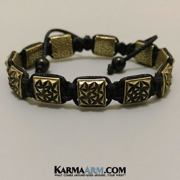 FlatBead Collection: Textured Antique Gold | Black