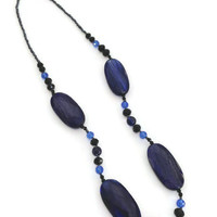 Leasil Blue Sand Quartz Necklace