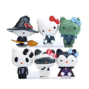 6 pcs/lot Classic Action Figures Vinyl Dolls Pirates Hello Kitty Sets Birthday Halloween Cosplay Toy for Children Kid Home Decor
