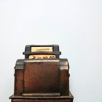 Vintage Die Cast Metal Cash Register Miniature 1970s