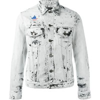 Indie Designs Saint Laurent Inspired Acid Wash Studded Denim Jacket