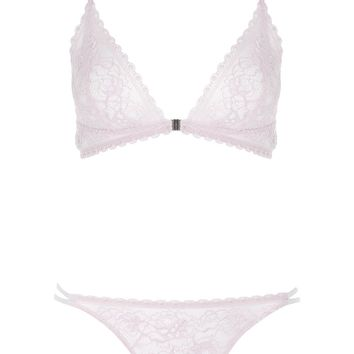 Lace Soft Triangle Bra and Mini Knickers | Topshop