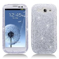 Generic Hard Case Cover for Samsung i9300 Galaxy S III - White and Silver