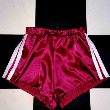 SWEET LORD O'MIGHTY! SILK KITTEN SHORTS IN MAROON