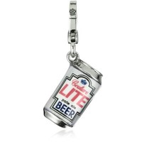 """Juicy Couture """"Resort"""" Silver Beer Can Smaller Charm"""