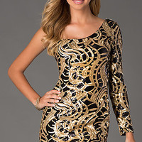 Short One Shoulder Sequin Dress