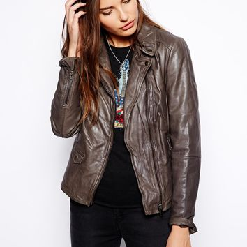 Muubaa Lyme Rider Leather Biker Jacket