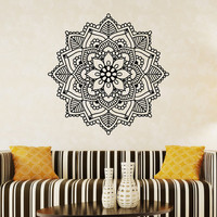 Wall Decal Vinyl Sticker Mandala Ornament Indian Geometric Moroccan Pattern Yoga Namaste Lotus Flower Om Decals Murals Art Home Decor Z858