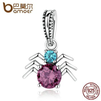 925 Sterling Silver Spider Charms Pendants fit Bracelets for Women Beads & Jewelry Makings SCC047