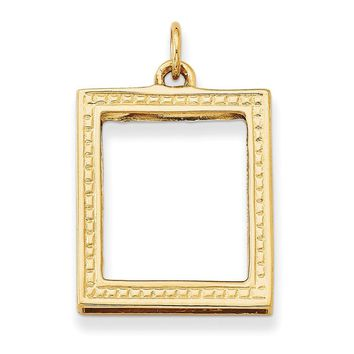 14K Yellow Gold Picture Frame Pendant