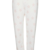 Star Towelling Pyjama Bottoms - Cream