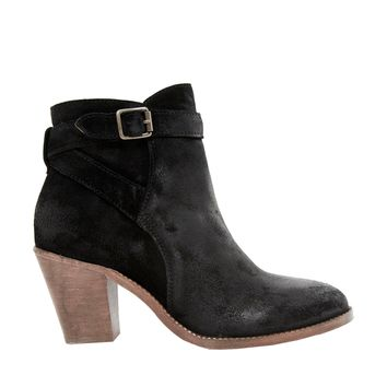 H By Hudson Lewknor Black Strapped Heeled Ankle Boots