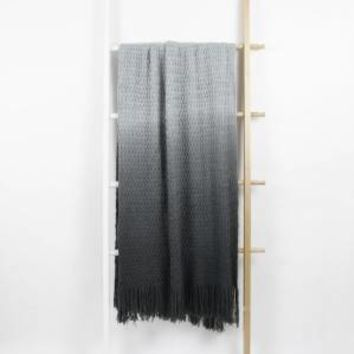 Ombre Throw Blanket - Grey