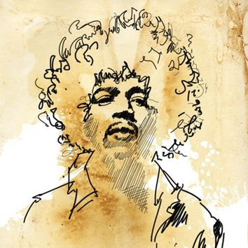 JIMI HENDRIX Rock n Roll hip chic modern by mediagraffitistudio
