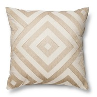 Threshold™ Metallic Diamond Neutral Throw Pillow