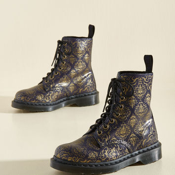 March Through Manhattan Boot in Antique Damask | Mod Retro Vintage Boots | ModCloth.com