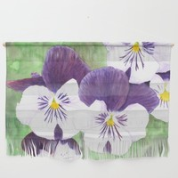 Purple and white pansies flowers by Savousepate